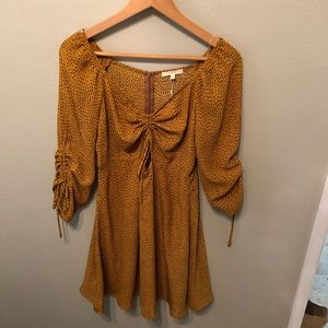 New With Tags Size Small Mustard Yellow Dress